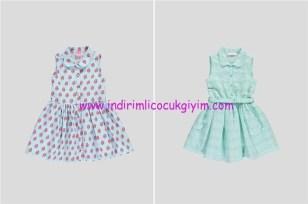 LCW kız çocuk mint elbise modelleri