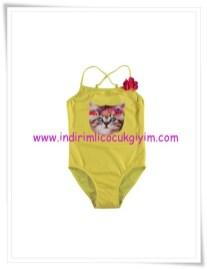 LCW kız çocuk sarı kedili mayo-15 TL