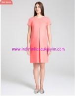 Mercan şık hamile elbisesi-205 TL