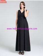 Uzun siyah hamile abiye elbisesi-240 TL
