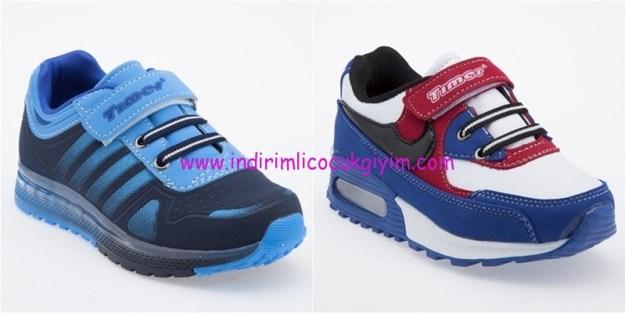 Yeşil Kundura mavi çocuk spor ayakkabıları