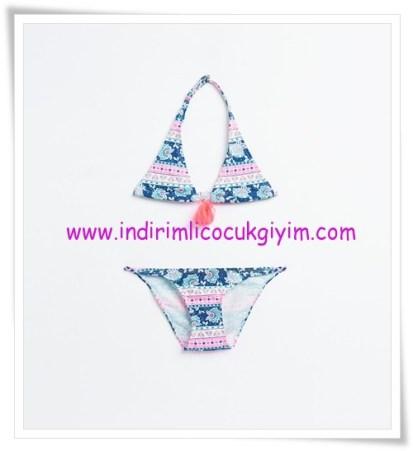 Zara kız çocuk desenli bikini-50 TL