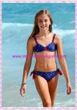Bonprix mavi çift yönlü kız çocuk bikini-60 TL