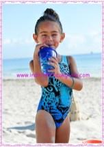 Bonprix mavi baskılı kız çocuk mayosu-40 TL