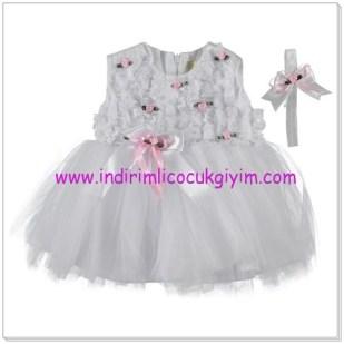 Civil kız çocuk beyaz abiye elbise