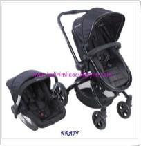 Kraft HA3049-MF005 Twist Travel sistem Siyah Bebek Arabası
