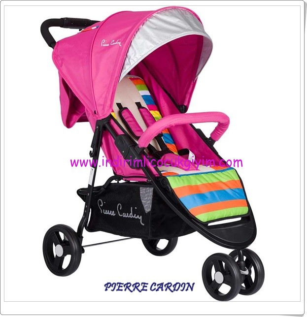 Pierre Cardin 305 Lorainne Jogger Pembe 3 tekerlekli bebek arabası
