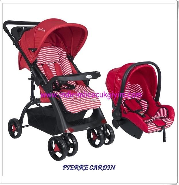 Pierre Cardin PC-409 Aloin kırmızı Travel Sistem Bebek Arabası