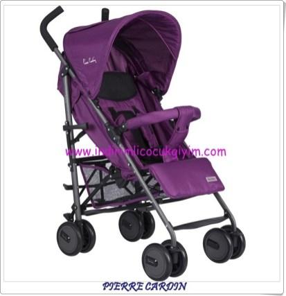 Pierre Cardin PC203A mor bebek arabası