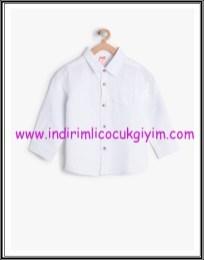 Koton erkek çocuk klasik yaka beyaz gömlek