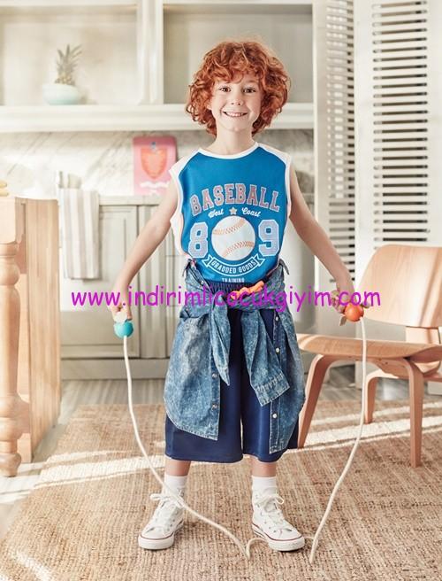 Koton erkek çocuk mavi şort
