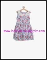 Koton kız çocuk mavi çiçekli elbise