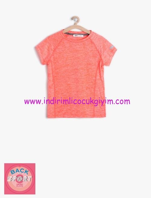 Koton kız çocuk oyuk yaka tişört