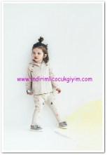zara kız bebek fermuarlı hırka-ponponlu pantolon