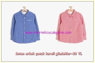 Koton erkek çocuk kareli gömlek modelleri