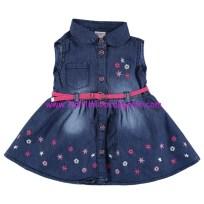 civil 6-24 ay düğme detaylı kot elbise