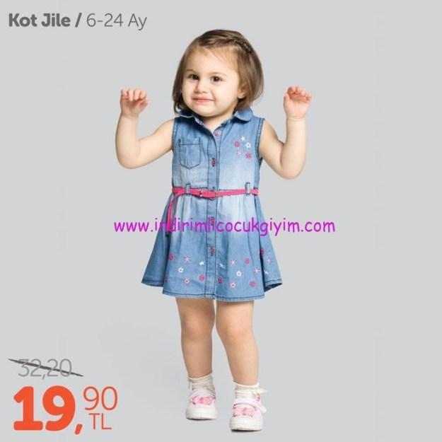 civil 6-24 ay kot kız bebek jile elbise