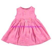 civil baby fiyonklu kolsuz pembe elbise
