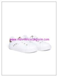 LCW kız çocuk beyaz cırt cırtlı spor ayakkabı-40 TL