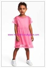 hm kız çocuk parlak pembe tüllü elbise