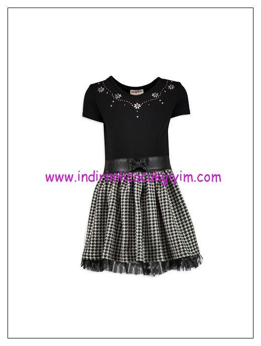 lcw-taş-işlemeli-siyah-kız-çocuk-elbise