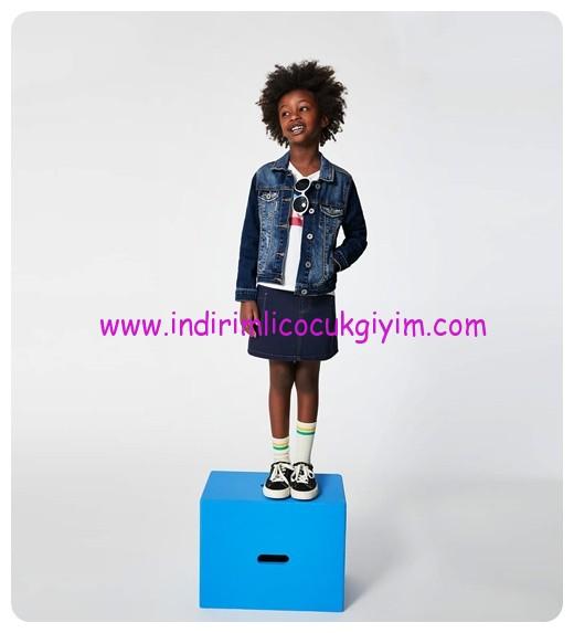 zara kız çocuk basic ceket