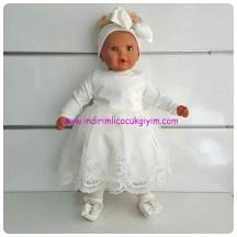 tullu gupurlu beyaz 5 parca kiz bebek mevlut takimi-79 TL