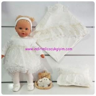 yastikli battaniyeli kız bebek mevlut seti takimi-119 TL