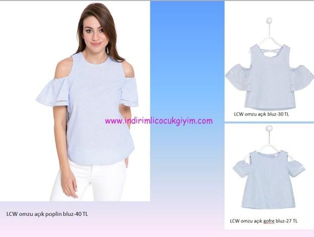lcw anne-kız çocuk bluz kombinleri