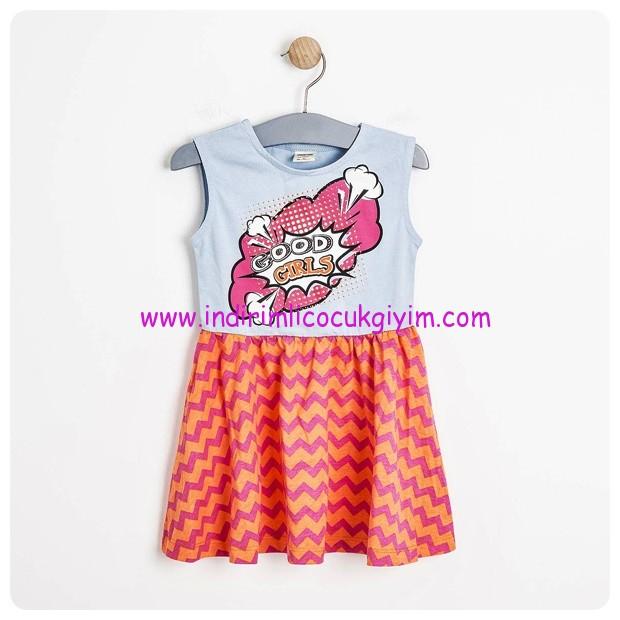 soobe kiz cocuk pop art elbise-23 TL