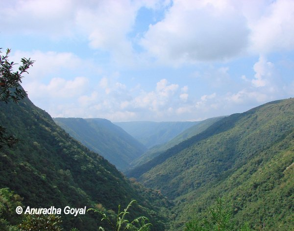 चेरापूंजी की पहाड़ियां