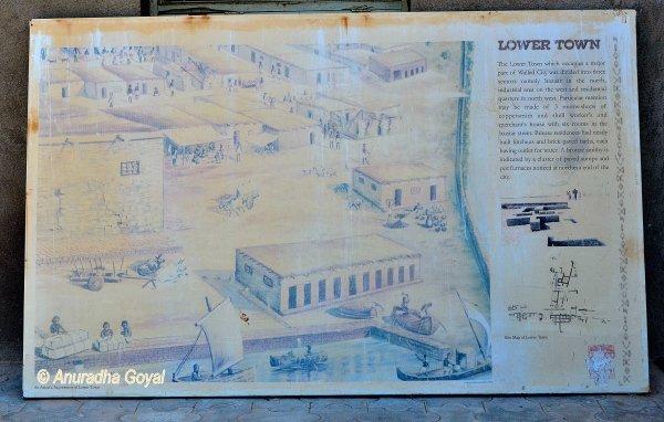 लोथल के निचले नगर का मान चित्र