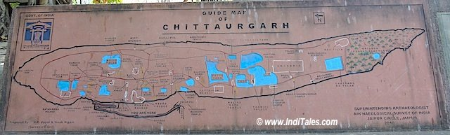 चित्तौड़गढ़ किले का मानचित्र