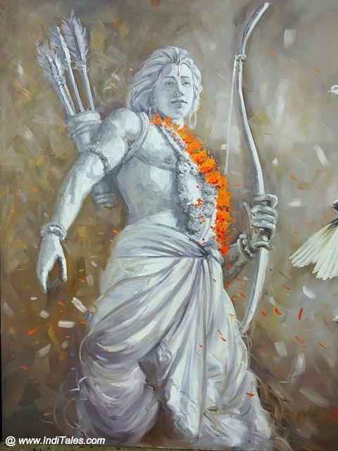 भगवान् राम का एक आधुनिक चित्र