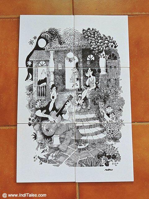 मारिओ मिरांडा की कला अज़ूलेज़ो टाइलों पर