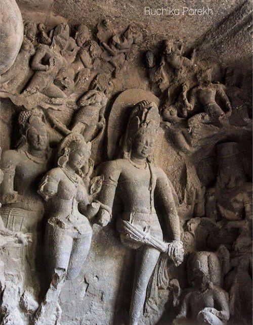शिव पारवती विवाह - एलिफेंटा गुफाएं