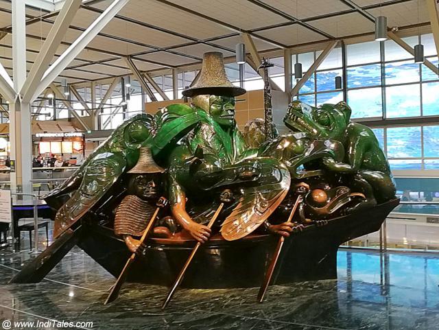 बिल रीड की फर्स्ट नेशन्स को समर्पित कलाकृति वन्कुवर विमानतल पर