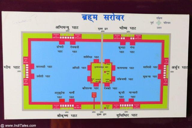 ब्रह्म सरोवर का मानचित्र