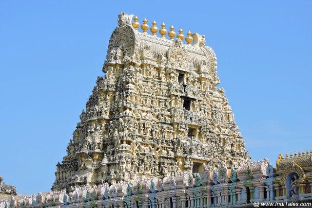 एकम्ब्रेश्वर मंदिर कांचीपुरम का शिखर