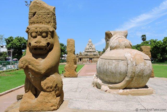 नंदी मंडप कैलाशनाथ मंदिर कांचीपुरम