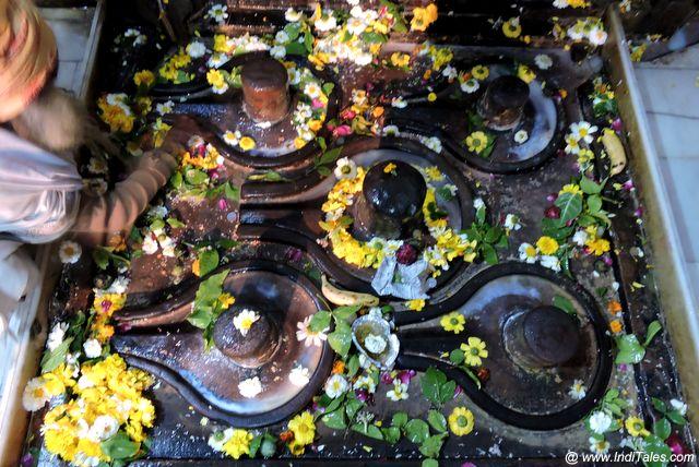 चक्रेश्वर महादेव मंदिर के पांच शिवलिंग