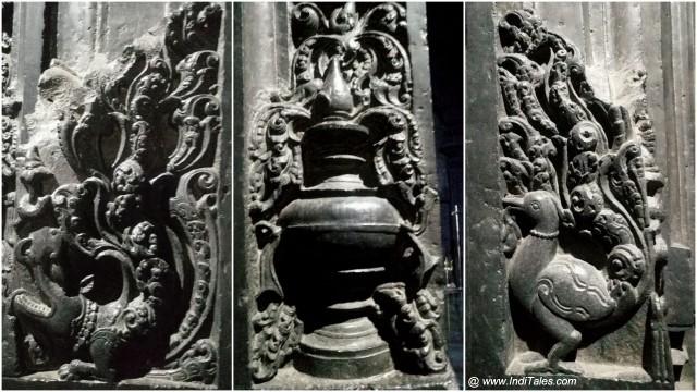 मकर, मयूर एवं पूर्ण कुम्भ - कोपेश्वर मंदिर में मंगल चिन्ह