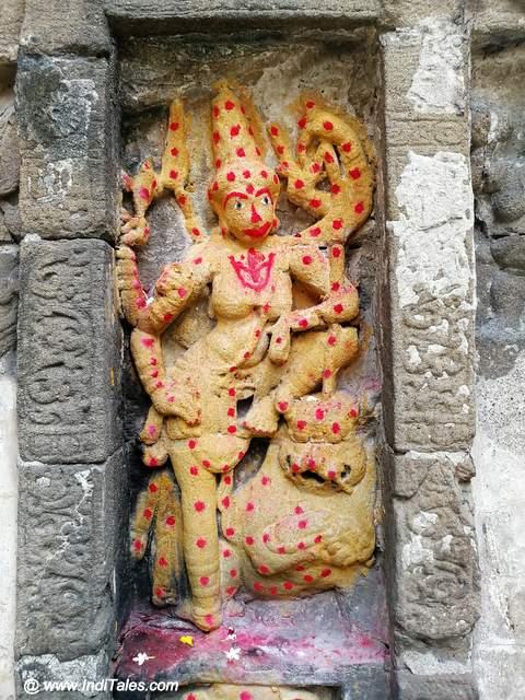 ऐरावातेश्वर मंदिर में दुर्गा