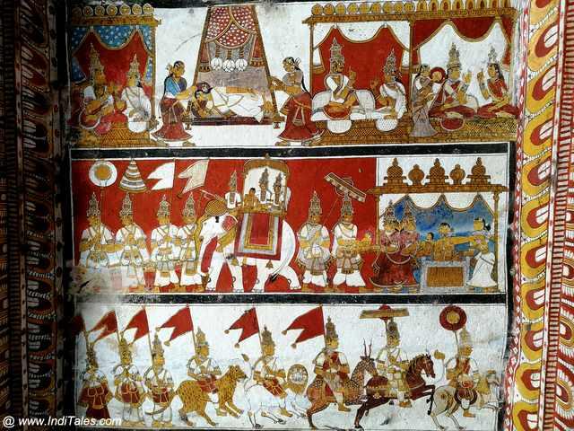 जैन मंदिर के भित्तिचित्र