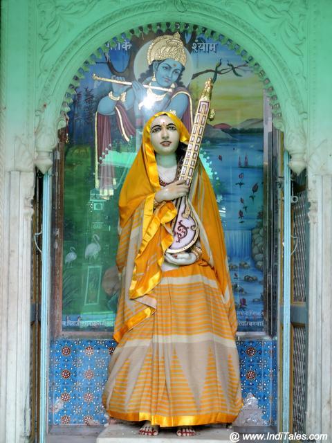 Meera Temple in Charbhuja Temple courtyard