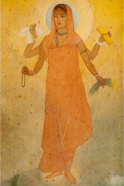 अवनींद्रनाथ टैगोर कृत भारत माता का चित्र