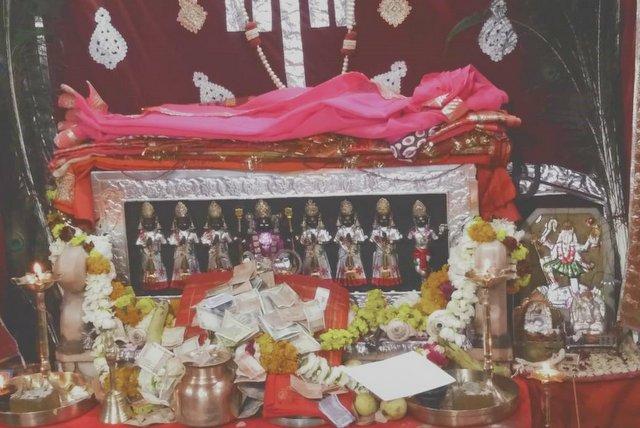 Saptamatrika at Kaale Dungar Temple - Devi Temples of Jaisalmer