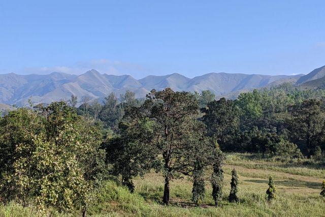 Landscape view of Kudremukh National Park en route Annapoorneshwari Temple