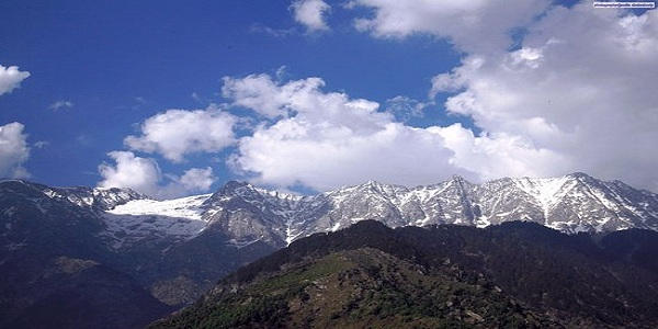 A view of the Dhauladhar Ranges