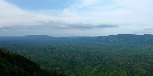 Panoramic view of Jampui hills